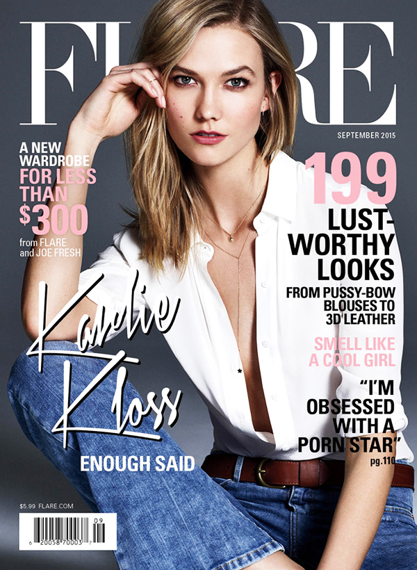 FLARE MAGAZINE SEPTEMBER 2015 COVER
