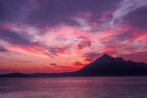 sunset sea sky cloud mountain colour skye coast hill olympus cuillin elgol lochscavaig garsbheinn httphighlandscapezenfoliocom olympusem5markii