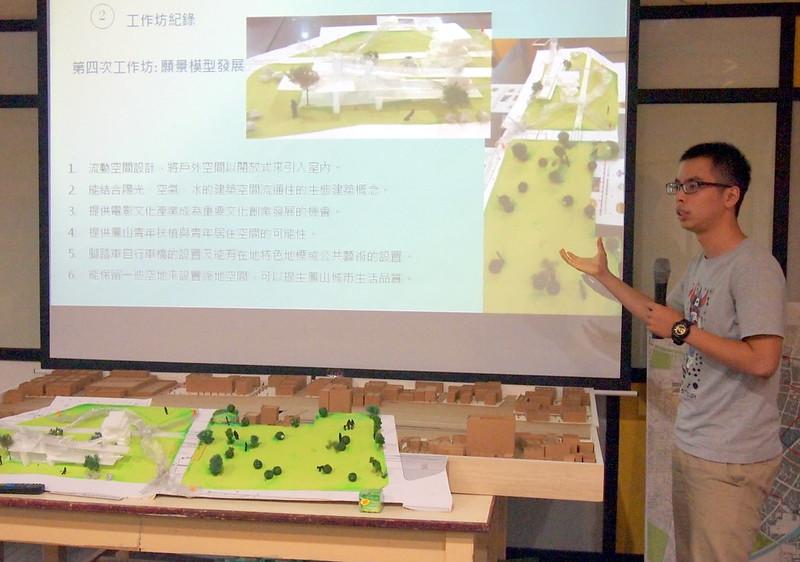 透國模型展示,說明民眾對車站和城市願景的想像。李育琴攝