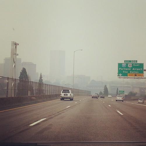 downtown wildfire smoke