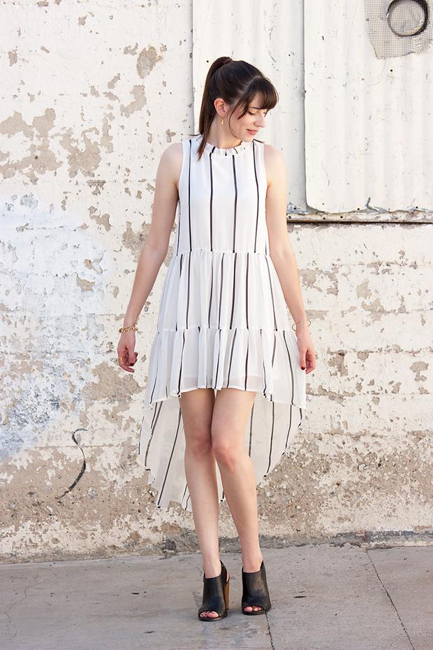 Elliatt Tunic Dress, Open Toe Mules (1)