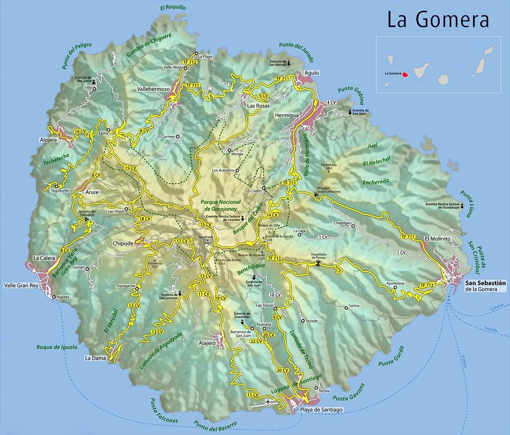 Mapa de La Gomera