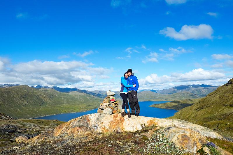 Über dem Fjord