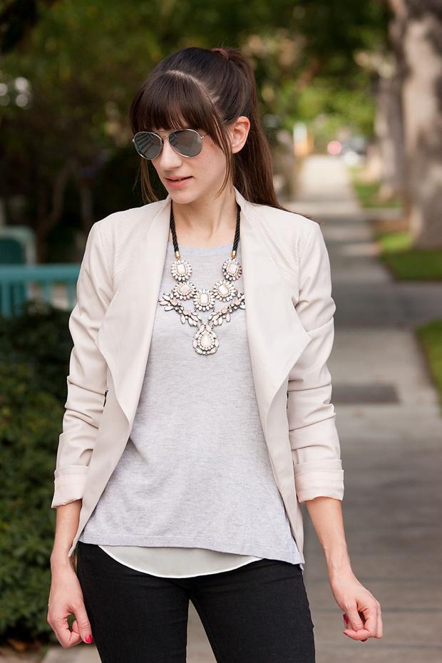 BB Dakota Blush Jacket, Neutral Outfit