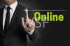 online touchscreen is operated by businessman by wsf-fl