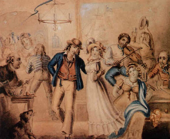 Sailors in a pub, attributed to Edward Francis Burney (1760-1848)