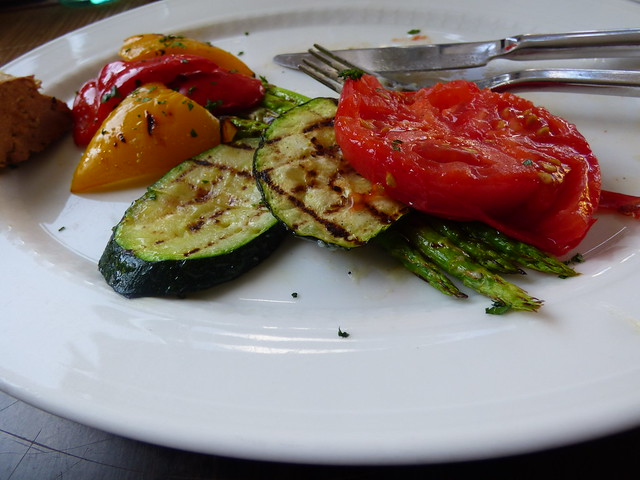 Moscow, grilled vegetables at a restaurant