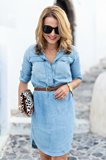 J Crew Chambray Shift Dress