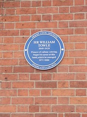 Photo of William Towle blue plaque