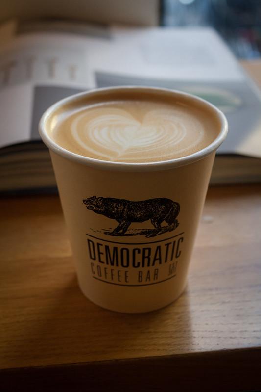 Latte from Democratic coffee - Copenhagen, Denmark
