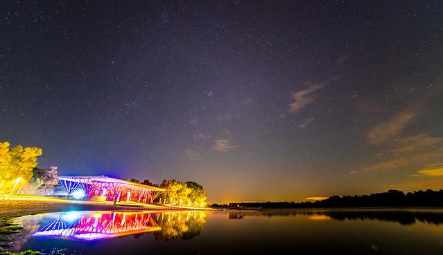 Wolfsburg Allersee bei Nacht