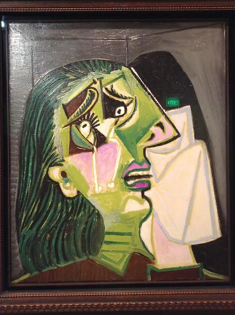 毕加索::哭泣的女人
