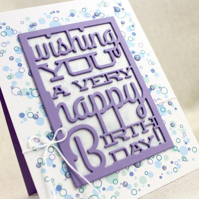 Confetti Text Block Birthday Close Up