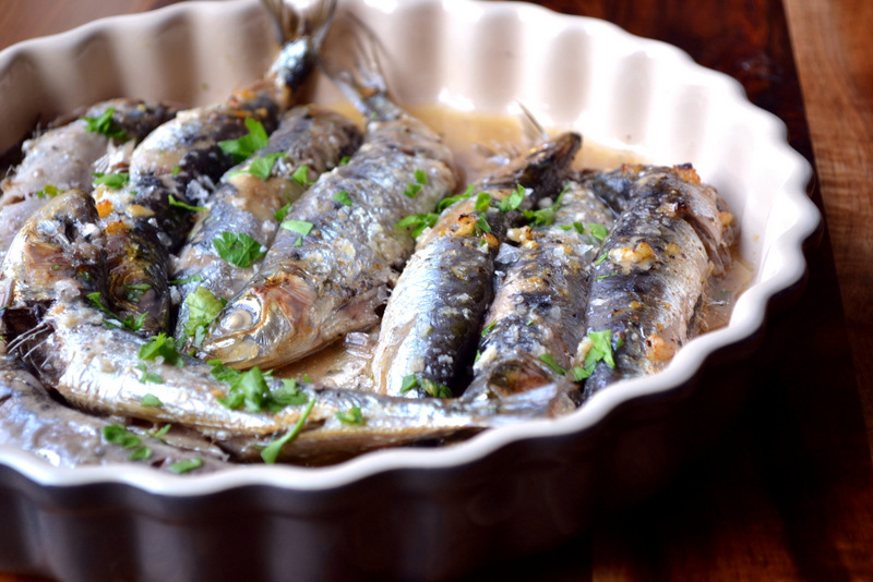 Recipe for Fresh Baked Sardines