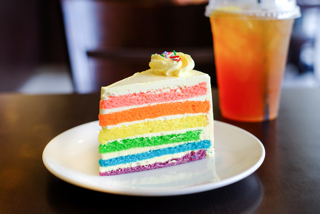 Halal Cafes in the East: The Royals Cafe's rainbow cake