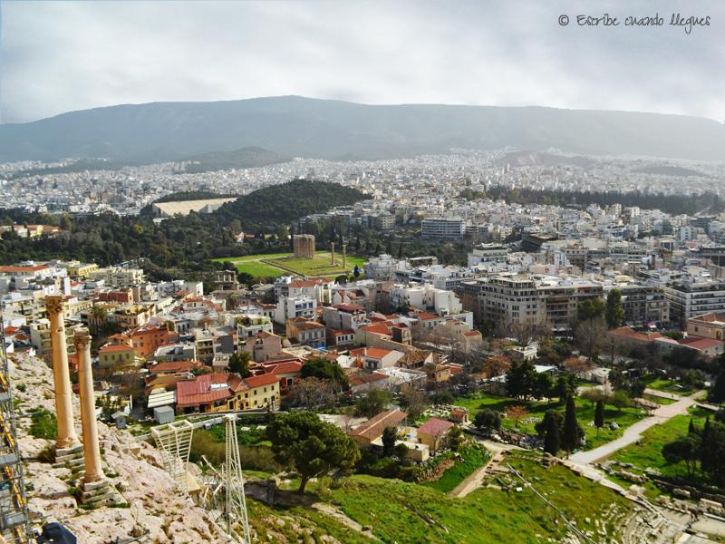 Vista del Templo de Zeus Olímpico