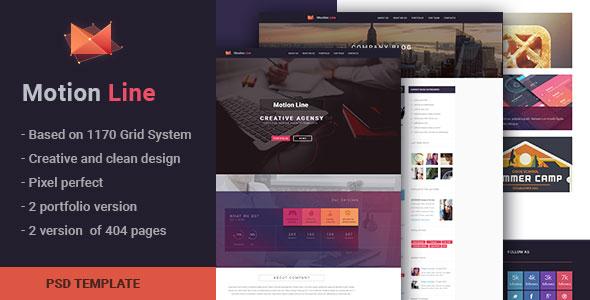 Themeforest Motion Line v1.0 – creative portfolio PSD template