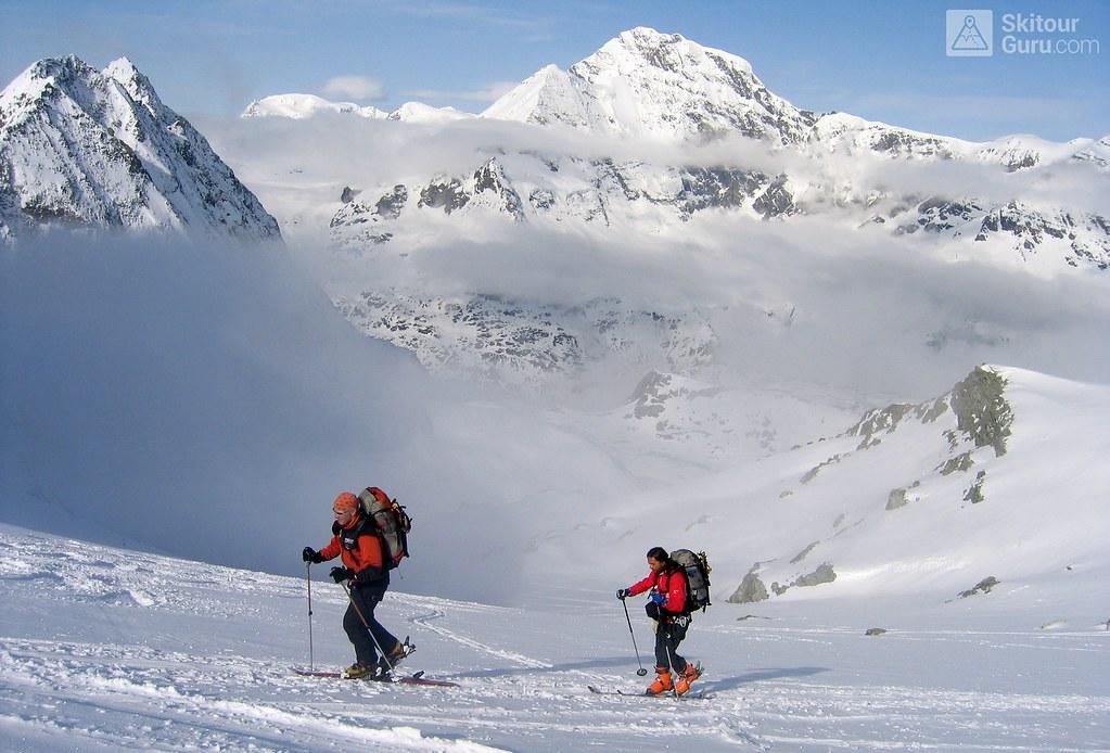 Haute Route Chamonix-Zermatt, Col Eveque, Walliser Alpen, Switzerland