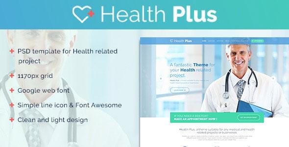 Themeforest Health Plus v1.0 - Clinic PSD Template