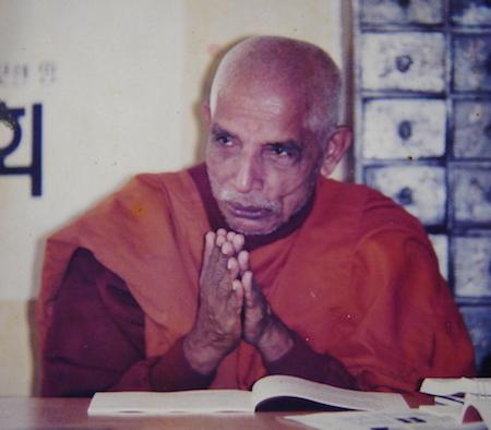 Bhikkhu G. Pragyanand Mahasthivir. From Bhikkhu Upanand