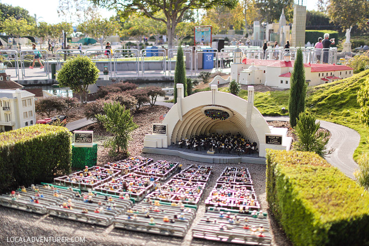 Lego Holywood Bowl Los Angeles - If you love travel, you will love this around the world tour at Legoland California Resort.