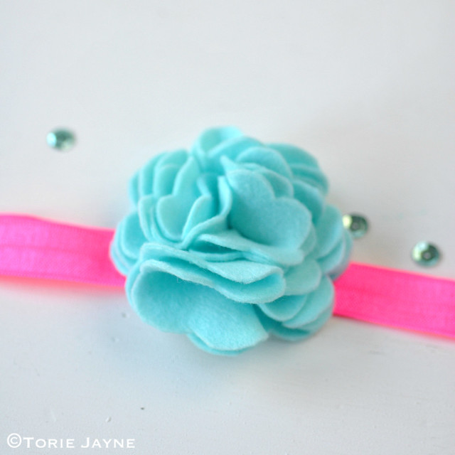Felt flower hairband 1