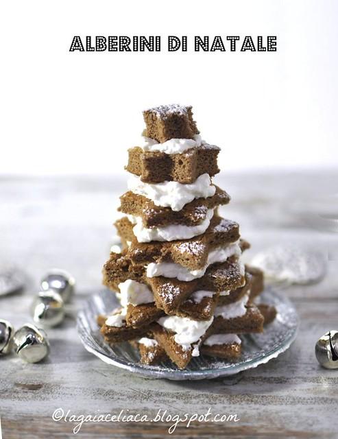 Alberini di Natale con biscuit al cacao senza glutine