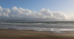 22nd September 2016. Dingle Bay and Inch Strand from Ardroe, Dingle Peninsula, County Kerry, Ireland