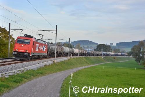 HGK/RheinCargo: BR 185 587, Eschlikon (CH)