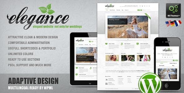Ait-Themes Elegance v1.21 – WordPress Theme For Wedding Agencies