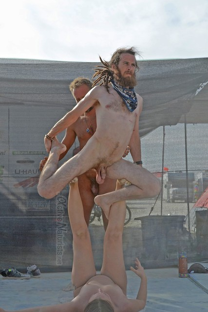 naturist acro-yoga camp Gymnasium 0003 Burning Man, Black Rock City, NV, USA