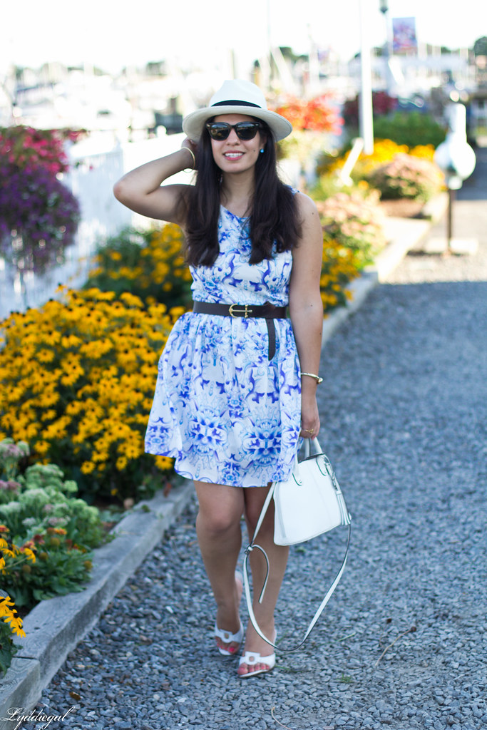 blue and white porcelain print dress, panama hat_-4.jpg
