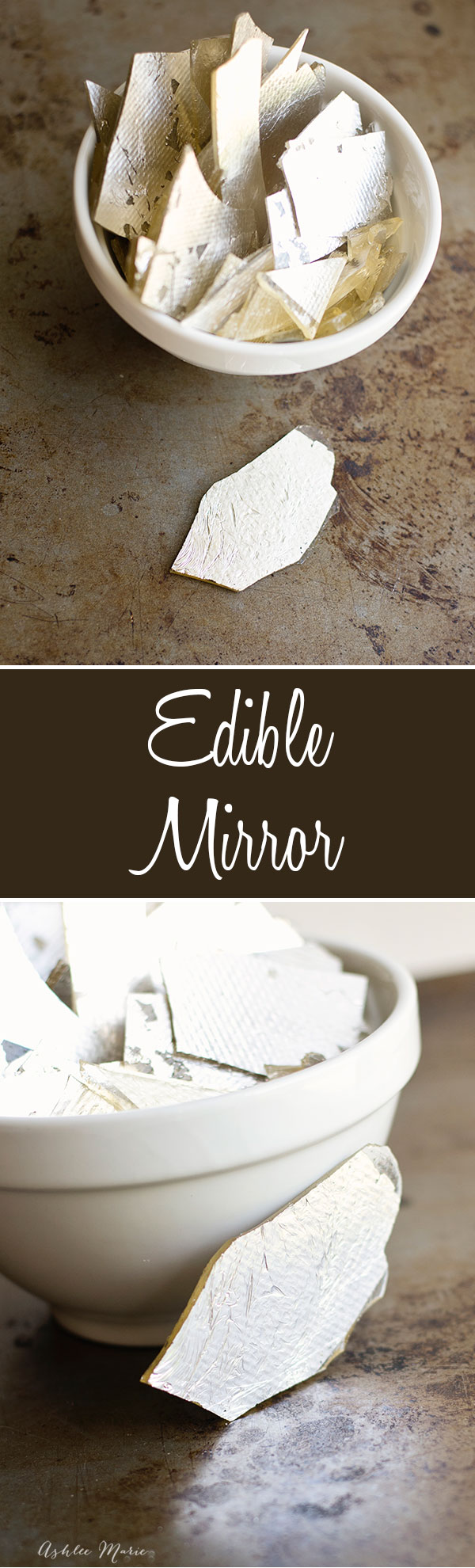 a easy recipe and video tutorial to create edible mirrors.