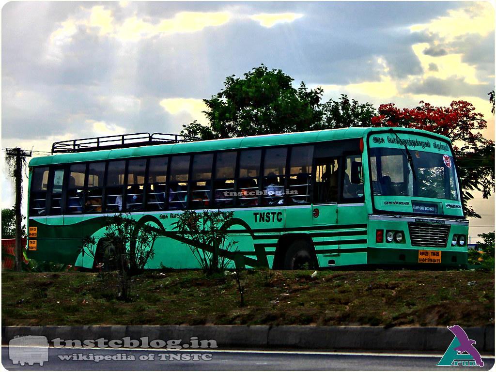 TN-25N-0419 of Arani Depot Route 202 UD Chennai - Arani via Arcot.