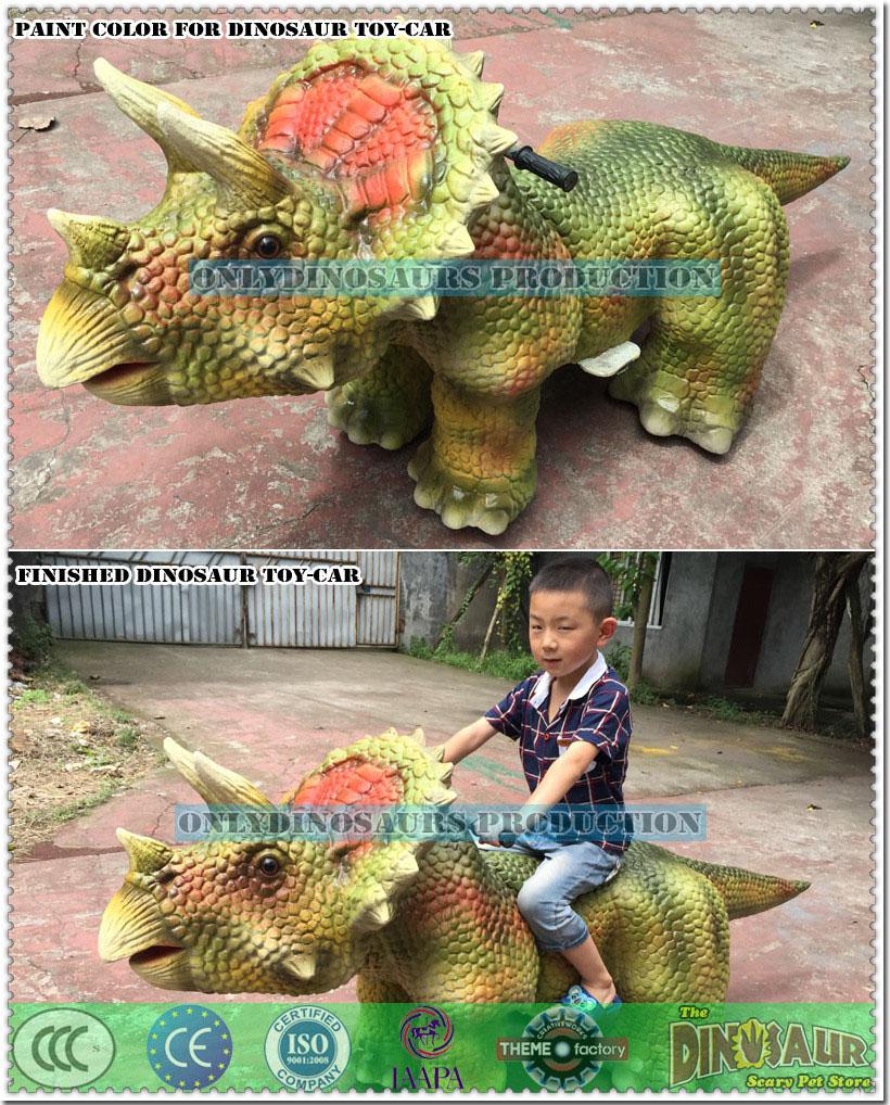 Finished Dinosaur Toy-Car