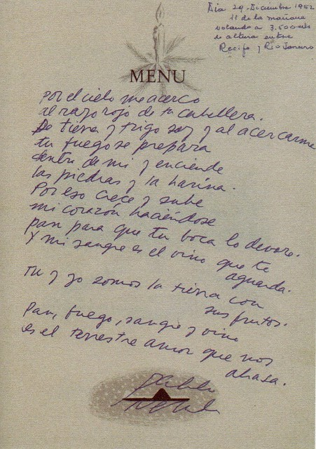 Manuscritos de Pablo Neruda