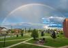 Rainbow after a rainshower by Debajyoti M