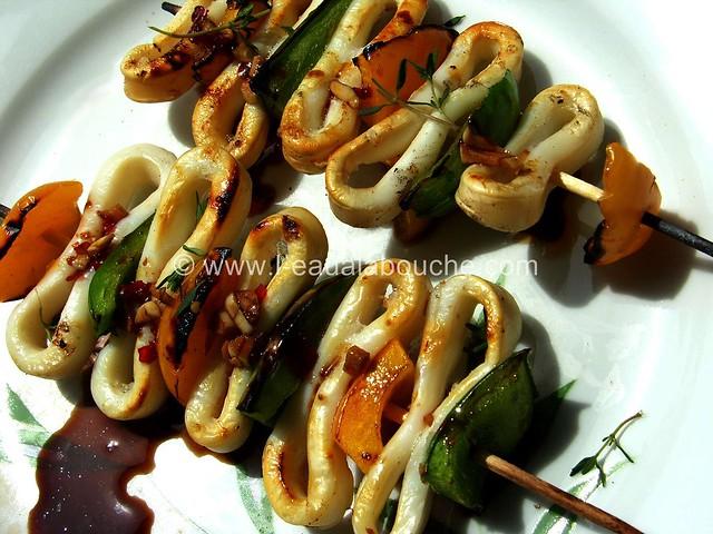 Brochettes de Calamars © Ana Luthi Tous droits réservés 003