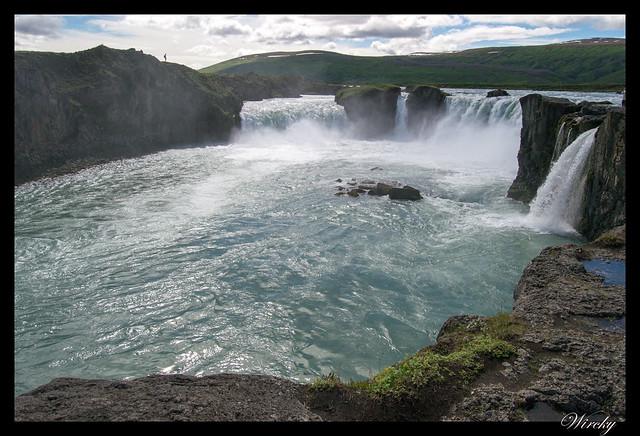 La cascada de los Dioses Godafoss en Islandia