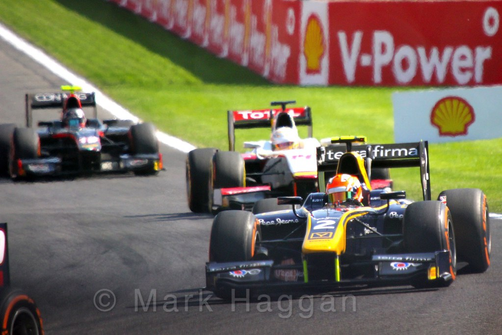 The GP2 Feature Race at the 2015 Belgium Grand Prix