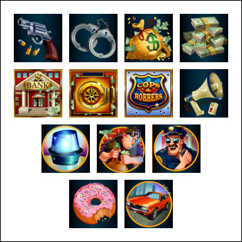 free Cash Bandits slot game symbols