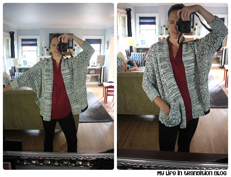 Skies Are Blue Marquette Open Knit Cardigan: $68