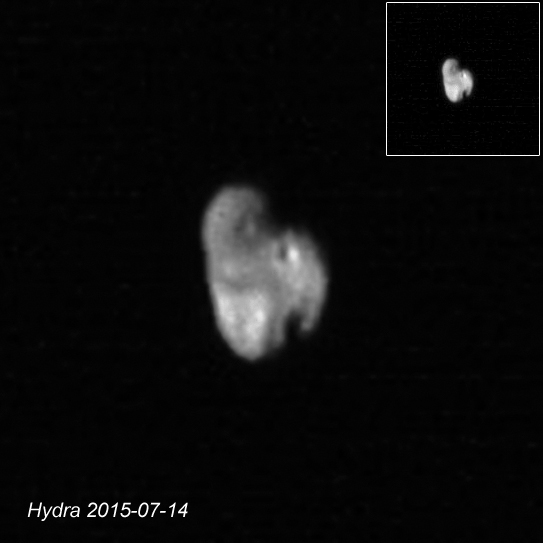 Hydra - #PlutoFlyby - New Horizons 2015-07-1