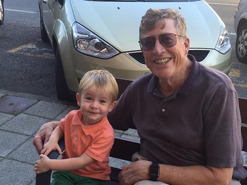 Paul and Ian on Bench