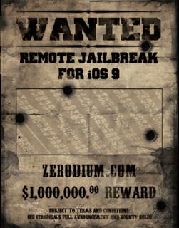 1M dollár iOS 9 remote jailbreak-ért