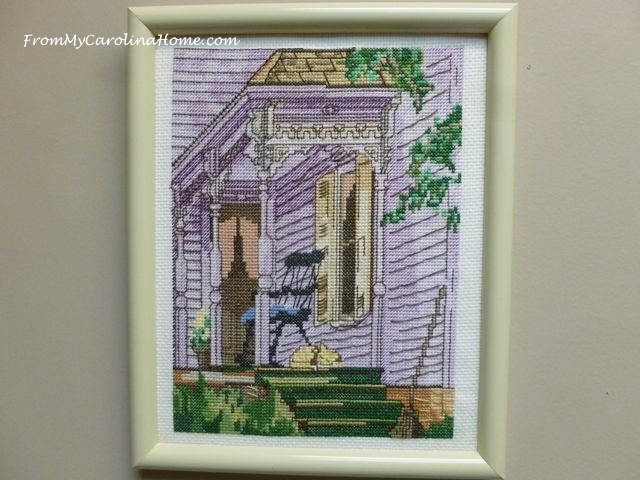 Cross Stitch Victorian Porch at From My Carolina Home