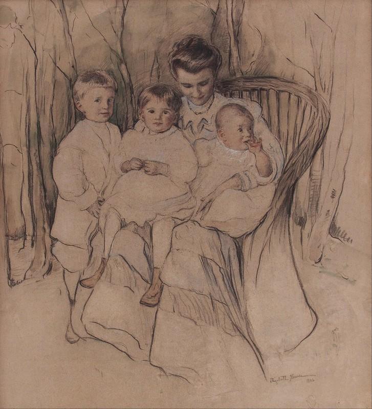 Elizabeth Nourse - Mother and Three Children (1906)