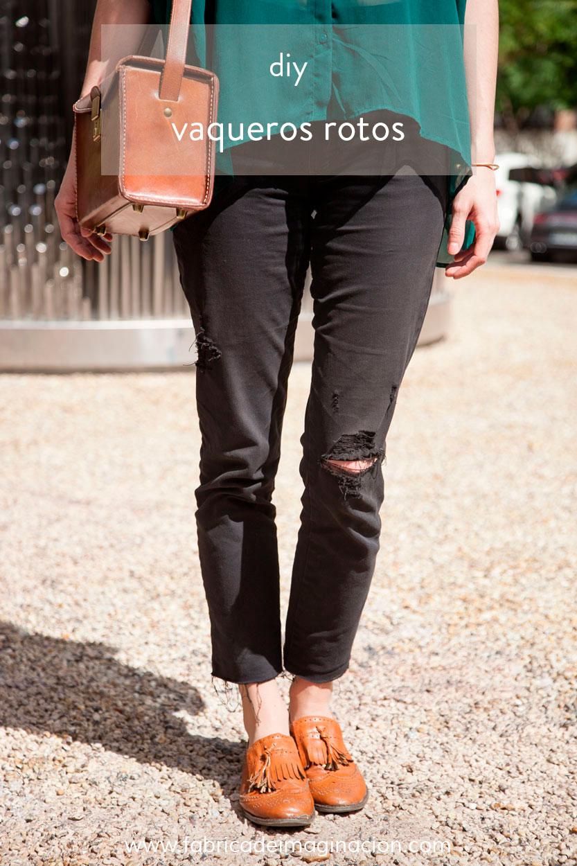 Diy Pantalones Rotos Fabrica De Imaginacion Diseno Diy