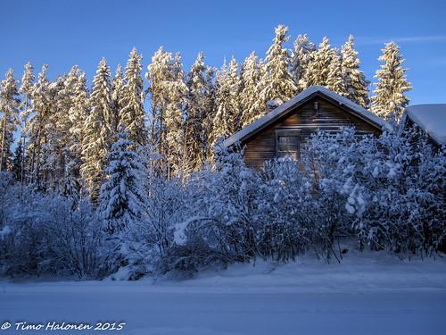 winter snow sunshine digital canon finland ixus lumi talvi laihia 100is isokylä