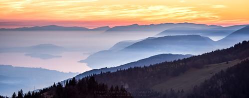 schweiz nebel berge jura solothurn biel bielersee selzach